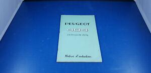 Notice d'entretien d'origine PEUGEOT 404 U8 Camionnette 850 kg