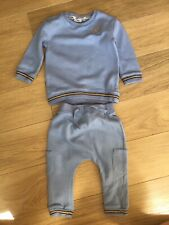 Baby Boy River Island Blue Angel Wings Gold Logo Tracksuit Outfit 😍 9-12 Months