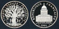 France : Très rare 100 Francs 1991 Panthéon Argent Silver Top Qualité BE 6232 ex