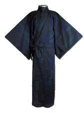 Japanese MEN'S KIMONO YUKATA OBI SET KOMON  NAVY  LL SIZE  NEW (B)
