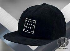New NIKE SB Washed Cord Corduroy Black Strapback Mens Hat Cap