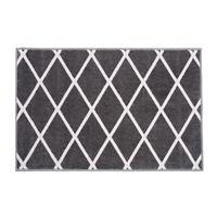 SKID-RESISTANT CARPET Indoor area rug mat DIAMOND TRELLIS LATTICE Misty Gray