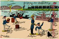 AK Künstlerkarte, Düsseldorf, Scherzkarte & Karikatur, 1902, 31/08