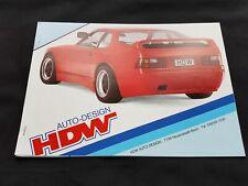 HDW auto-design Tuning Porsche 924 944 GFK Umbau Prospekt Brochure