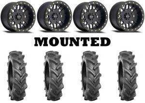 Kit 4 BKT AT 171 Tires 28x9-14 on Method 406 Beadlock Matte Black Wheels FXT