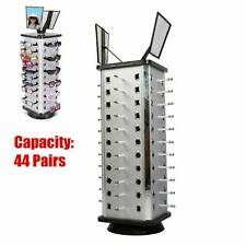44 Pairs Sunglass Display Rack 360 Rotating Glass Holder Freestanding 2 Mirrors