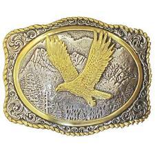 Crumrine Western Belt Buckle Rope Eagle Gold Silver 38046