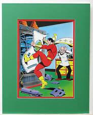 SHAZAM Pin up Poster CAPTAIN MARVEL DC 1978 FRAME READY