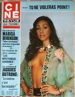 Ciné Télé Revue 8/7/1976; Marisa Berenson/ J. Dutronc/ Charles Aznavour/ Baker