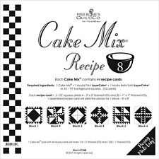 MISS ROSIE'S QUILT CO~CAKE MIX RECIPE 8~44 SHEETS 4 LAYER CAKE PAPER PIECING