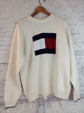 Tommy Hilfiger 100% Cotton Crewneck Big Flag Logo Sweater Long Sleeve XX-Large
