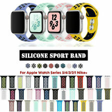 Silicone Sports Band Bracelet For Apple Watch 38/40/42/44mm iWatch Strap 5/4/3/2