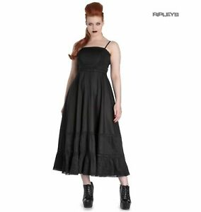 Hell Bunny Spin Doctor Goth Maxi Dress ELIZABELLA Black XS 8