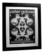 PETER GABRIEL+Plays Live+POSTER+AD+RARE+ORIGINAL 1983+FRAMED+EXPRESS GLOBAL SHIP