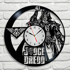 Judge Dredd design vinyl record clock home decor art gift club movie hero shop 1