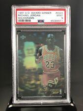 1991 Upper Deck Basketball Michael Jordan PSA 9 Hologram-Award Winner MVP-#AW4
