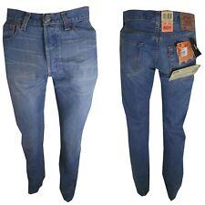 levis 501 w30 31 32 33 jeans uomo denim levi's strauss Nuovi originali Azzurro