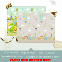 2 SIDE BABY PLAY MAT KIDS CRAWLING EDUCATIONAL SOFT FOAM BABY CARPET 100*180CM
