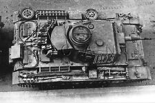 1930s-40s (6 x 4) Repro German RP- Tank- Panzer Mark III- Top View- Numbered