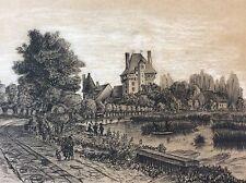 Paysage attribué à Jean-Pierre THENOT (1803-1857) fusain réhaussé
