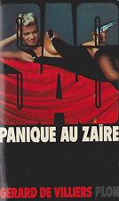 Livre de poche policier SAS panique au Zaïre G. de Villiers book
