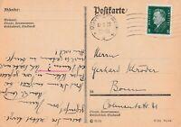 Postkarte verschickt von Münster nach Bonn aus dem Jahr 1931