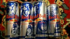 Energy Drink, Red Bull, Stratos,Spielberg.Pastrana, Sheckler.  4 full can