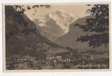 Interlaken Rugen & Jungfrau 1927 RP Postcard Switzerland 393a
