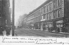 Louisville Kentucky~4th Avenue @ Green & Walnut~Euschenmeyer Bros~1908 Postcard
