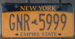 NEW YORK License Plate - Man Cave - Bar - Garage  - GNR 5999   Triple 9 s