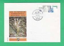 Canada 1976 Olympic Games, Montreal $1 FDC first day cover Gymnastics Sports HCV