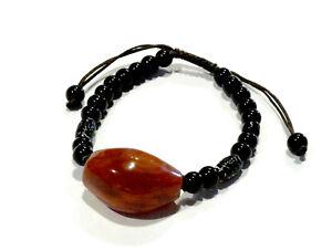 Bijou bracelet pierre agate cornaline réglable bangle