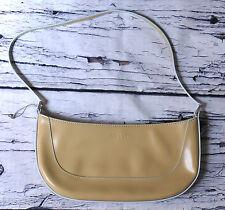 Esprit Small Shoulder Bag Purse Handbag Beige Zip Lightweight Light Yellow Mint