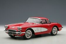 1958 CHEVROLET CORVETTE SIGNET RED 1:18 by AUTOART BRAND NEW IN BOX SALE AUCTION