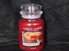 Yankee Candle Rhubarb Crumble large jar (Retired)