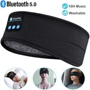 Bluetooth Schlafmaske Sport Stirnband Kopftuch Schlafkopfhörer  Headset DE Stock