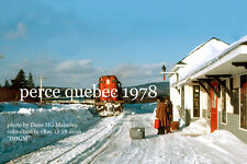 Canadian National Rwy     Perce station Quebec 1976   Gaspe Peninsula