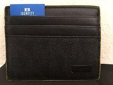 NWT MICHAEL KORS MENS Jet Set Logo Card Case Black/Yellow~New with Dust Bag!!