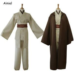 Star Adult Men COSplay Wars Obi Kenobi Wan COSplay Costume Halloween Jedi Robe