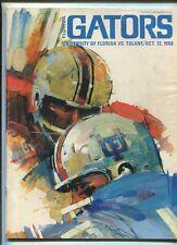 1968  Florida Gators Vs  Tulane     Football  program MBX14
