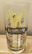 VINTAGE 1950'S  CFL GREY CUP CHAMPIONS GLASS HAMILTON TIGER CATS