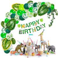 Birthday Balloons Decoration Confetti  Large Foil Leaf Ballon Jungle Party Decor