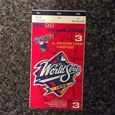 1998 World Series Ticket NY Yankees San Diego Padres g3  Derek Jeter