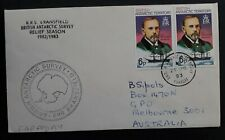 SCARCE 1983 British Antarctic Terr. RRS Bransfield Cover ties 2 stamps Faraday