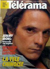TELERAMA 1984: JEREMY IRONS_HARPO MARX_MARGUERITE YOURCENAR_YVES MONTAND