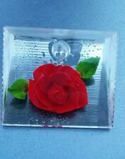Porte stylo inclusion rose rouge résine  bircraft