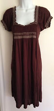 Womens BCBG Max Azria Elastic Front Brown Dress Size S