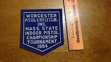 VINTAGE WORCESTER MASSACHUSETTS  FIREARMS   POLICE OBSOLETE 1954 PATCH BX1 3#15