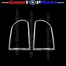 Chrome Taillights Bezel Cover For 2014 15 16 2017 GMC Sierra 1500/2500/3500