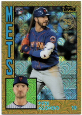 2019 Topps Update '84 Silver Pack Chrome Gold Refractors PETE ALONSO #/50 - METS